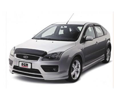 Дефлекторы окон (ветровики) Ford Focus 2005-2008 темные 4 шт. EGR (92431029B)