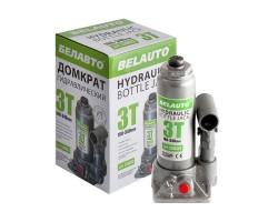 Домкрат гидравлический (бутылочный) БЕЛАВТО 3т высота подъема 180-340мм. (DB03)
