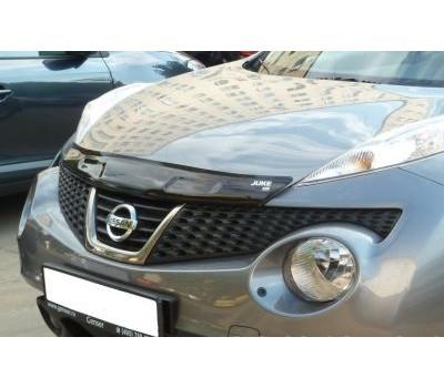 Дефлектор капота (мухобойка) Nissan Juke 2010- темный с логотипом EGR (027241L)