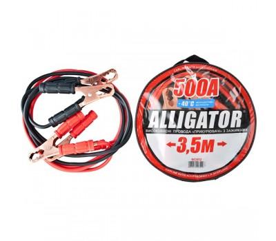 Провода-прикуриватели ALLIGATOR 500А, 3,5м, круглая сумка