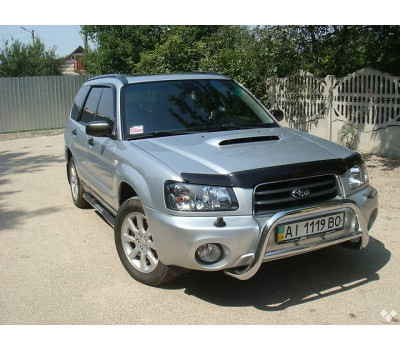 Дефлектор капота (мухобойка) Subaru Forester 2003-2005 темный EGR (37031)