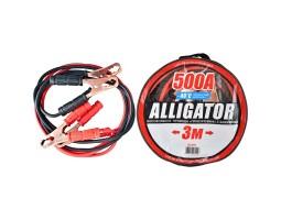 Провода-прикуриватели ALLIGATOR 500А, 3м, круглая сумка