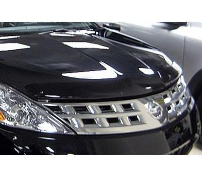Дефлектор капота (мухобойка) Nissan Murano 2009- темный с логотипом EGR (027201L)