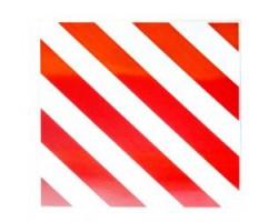 Табличка Негабаритный груз светоотражающая (на металле) (420-420мм) (TEMPEST)