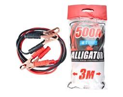 Провода-прикуриватели ALLIGATOR 500А, 3м, полиэтиленовый пакет