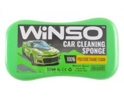 Губка WINSO для мытья авто, с мелкими порами 220*120*60мм, зеленая (151100)