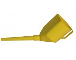 Лейка пластиковая универсальная 3 в 1 желтая Poputchik (07-003)