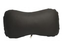 Подушка автомобильная на подголовник экокожа черная Poputchik (16-022)