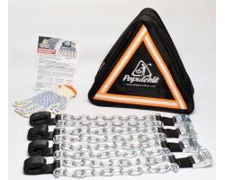 Браслеты противобуксовочные для легковых авто (4 шт) Poputchik (22-002)
