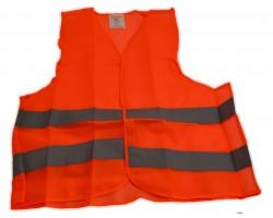 Жилет безопасности светоотражающий оранжевый Poputchik (05-002)