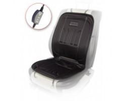Накидка на сиденье Vitol с подогревом и переключателем 100x50см черная H 23014 BK