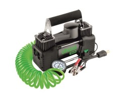 Автомобильный компрессор URAGAN (90170) 85 л/мин, 12В, 10 Атм, манометр