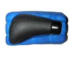 Ручка коробки передач декоративная Vitol (F 25015 P) черная, кожа