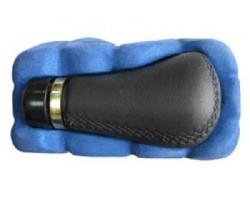 Ручка коробки передач декоративная Vitol (F 25341 P) черная кожа