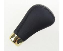 Ручка коробки передач декоративная Vitol (F 25438 P) черная кожа