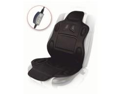 Накидка на сиденье Vitol H 19002 BK (115x49см) с подогревом высокая/переключатель
